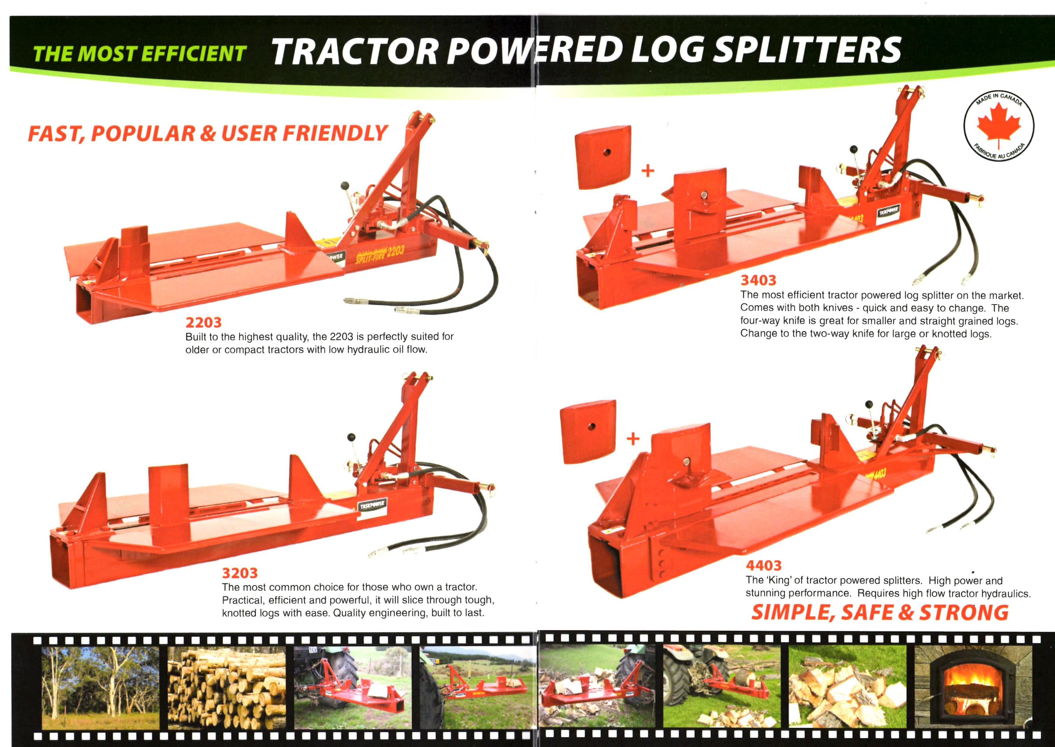 Quality Log Splitters Tas - Down the Road