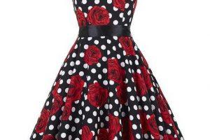 vintage+dress+black+w+red+roses