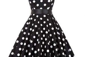 vintage+dress+b+w+dots