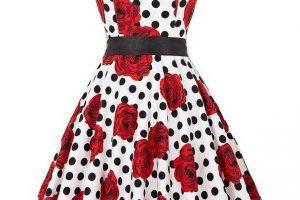 vintage+dress+white+red+roses